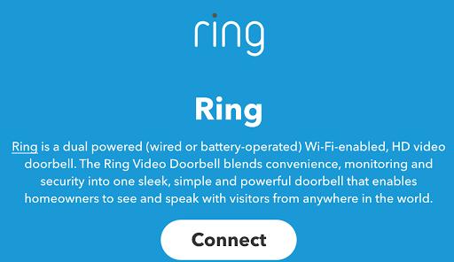 Ring Video Doorbell et IFTTT