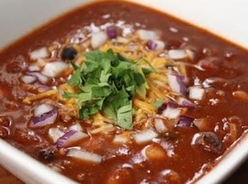 Super Easy 3 Bean Crockpot Chili Recipe