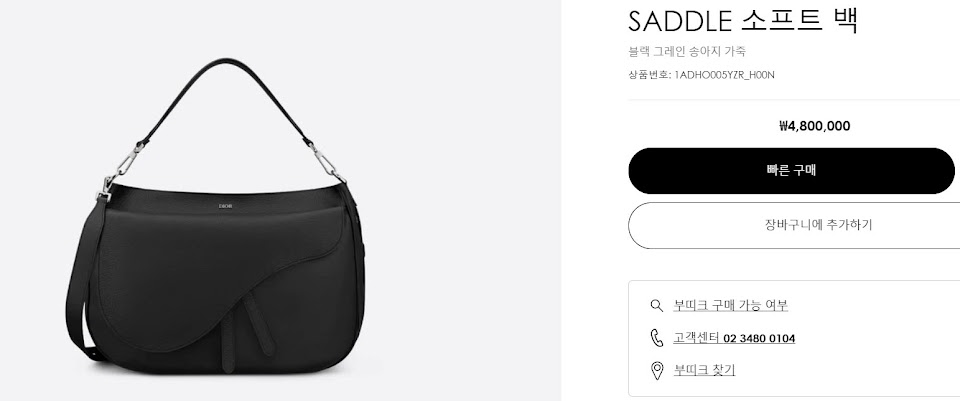 dior korea saddle sport bag