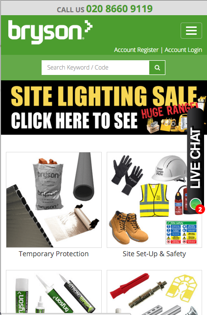 Bryson Products e-commerce- screenshot