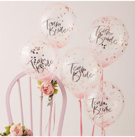 Konfettiballonger Team Bride - Floral Hen
