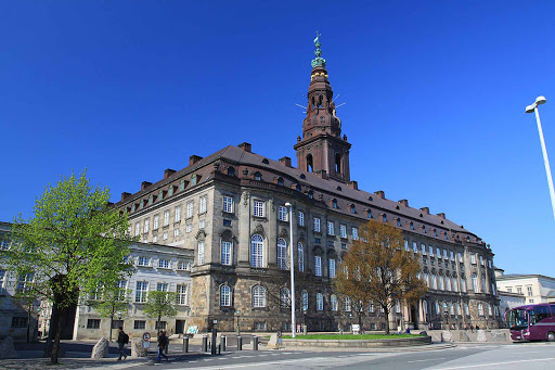 The Parliament Building in Copenhagen originally was built as the third Christiansborg Palace in 1928.