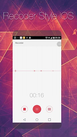 android Voice Recorder style of iOS 9 Screenshot 0