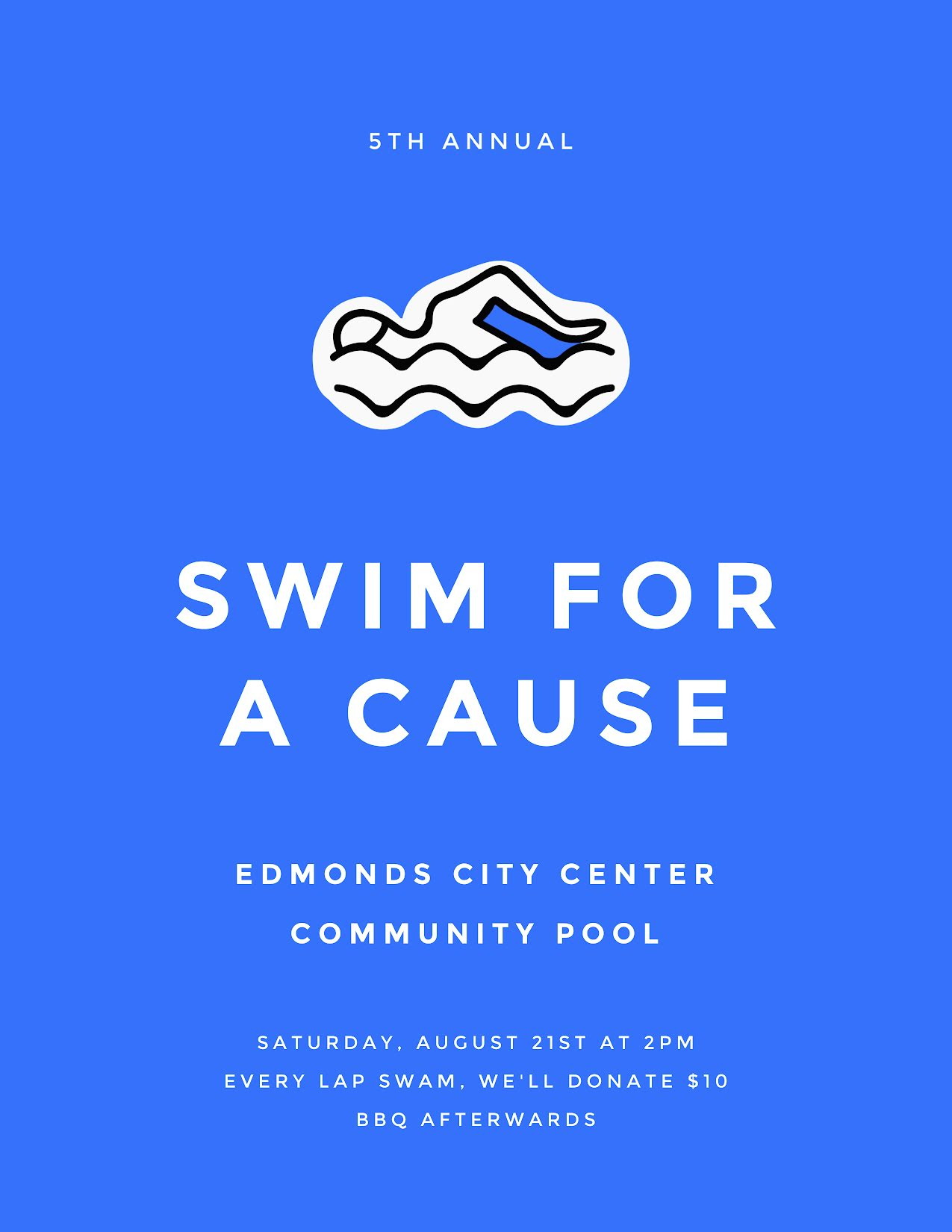 Swim for a Cause - Flyer Template