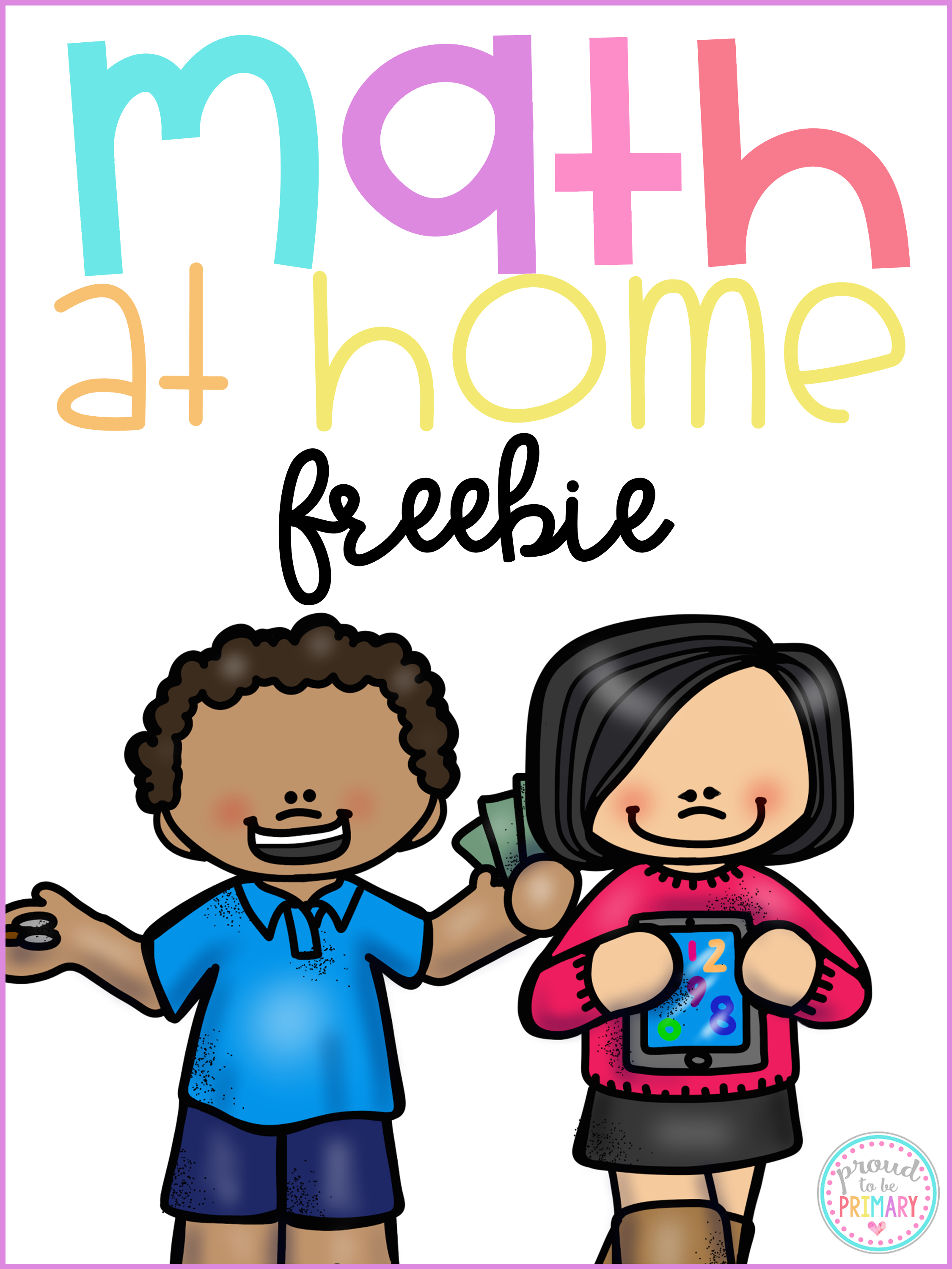 ways to practice math skills at home - free printable