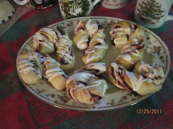 Cranberry Cane Rolls Recipe