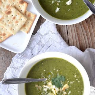 Potato Leek Soup with Kale.