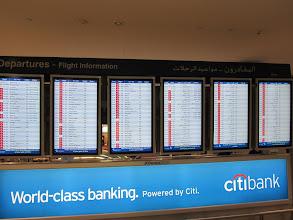 Photo: Tableaux d'affichage des différents départs de vols