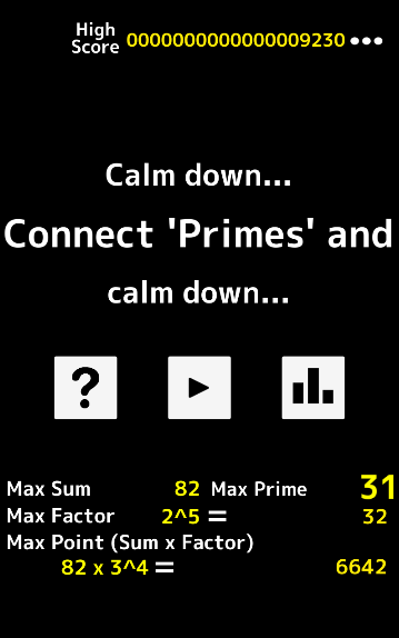 Connect primes and calm down- screenshot