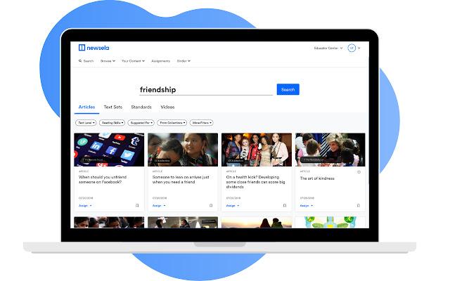 Newsela Google Classroom Extension