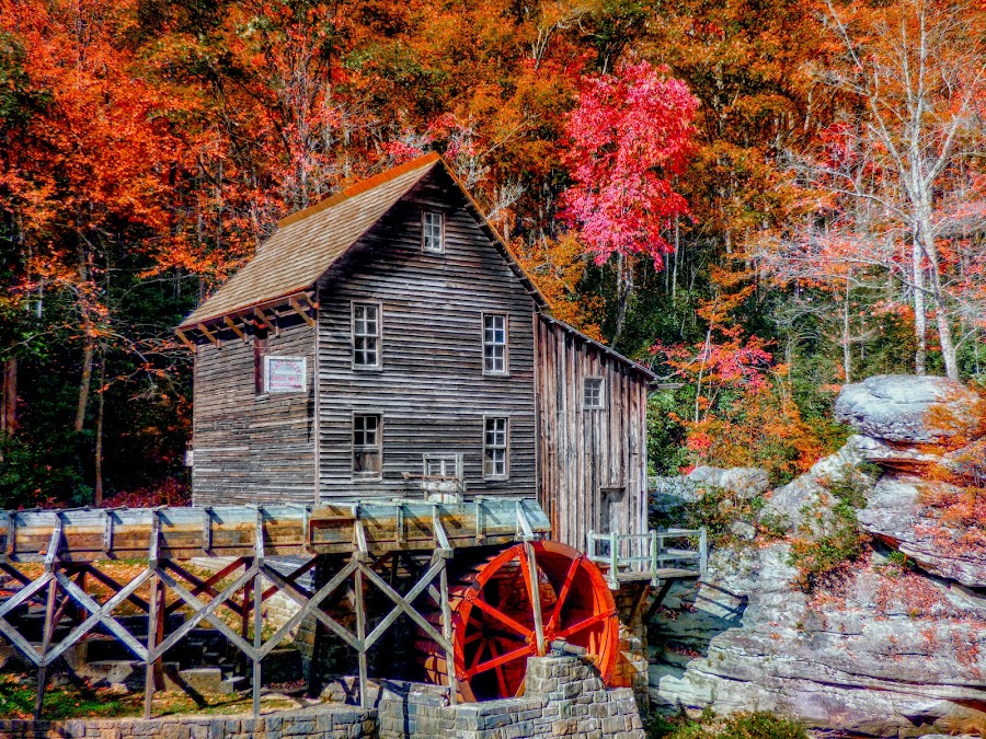 Babcock State Park by Dave Walters - Buildings & Architecture Other Exteriors ( nature, colors, fall, landscape, babcock state park,  )