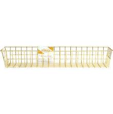 Crate Paper Wire System Metal Storage Bin - Medium Gold UTGÅENDE