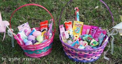 Photo: I combined what I purchased at Walmart with a few things I already had and made AWESOME baskets!