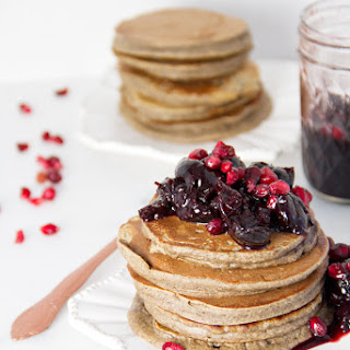Buckwheat Pancakes w/ Pomegranate Compote