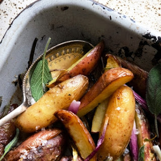 Grilled Potatoes and Onion.