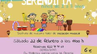 Cartel del Taller Musical de Improve en Serendipia.