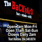 Logo for The Backyard Bar Stage and Grill