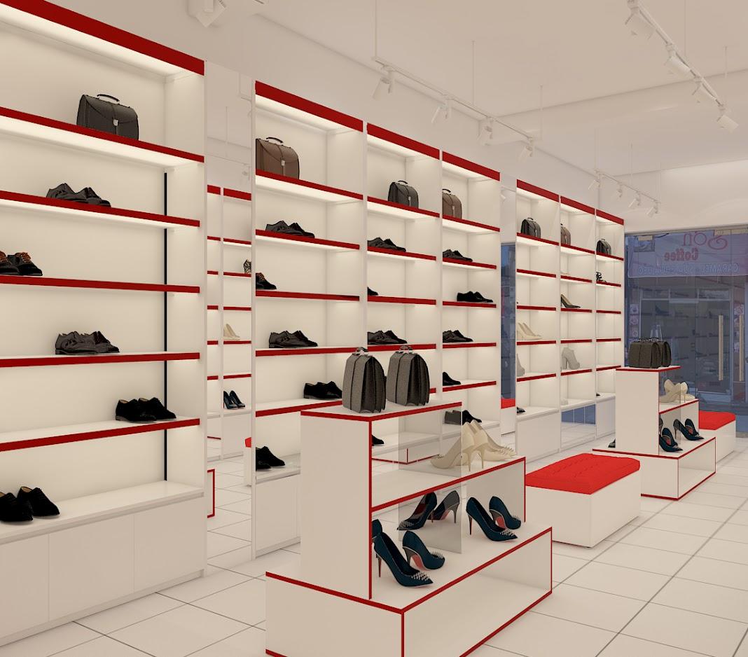 Thiết kế shop giày dép - thiết kế cửa hàng giày dép 5