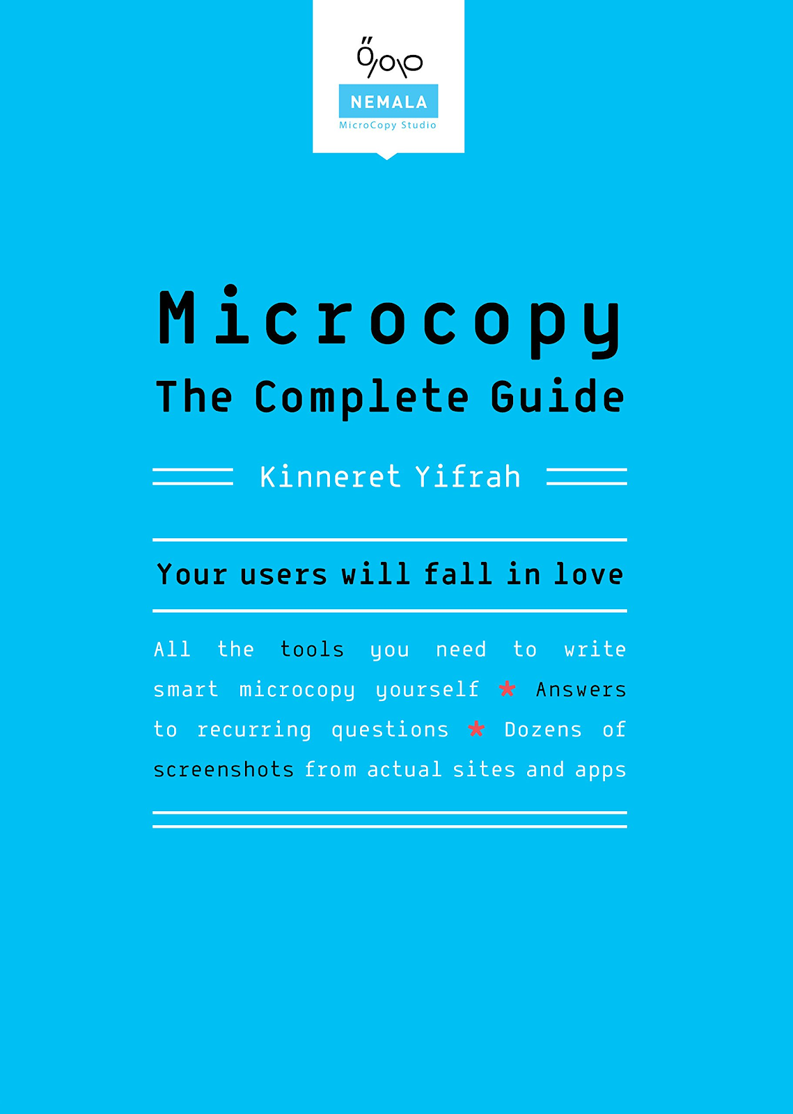 """light blue book cover with text reading """"Microcopy The complete Guide"""""""