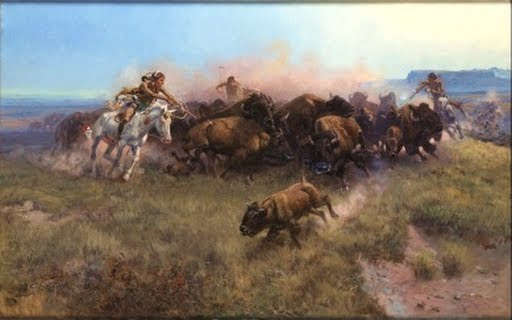 The Buffalo Hunt [No. 39] - Charles M. Russell - Google Arts & Culture