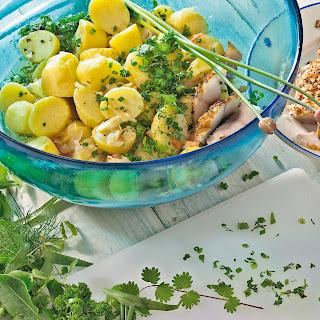 Kartoffelsalat mit Kräuter-Dressing