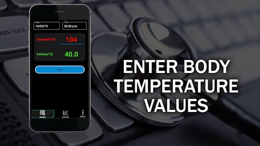 Body Temperature Checker Diary : Info History Log screenshot 1