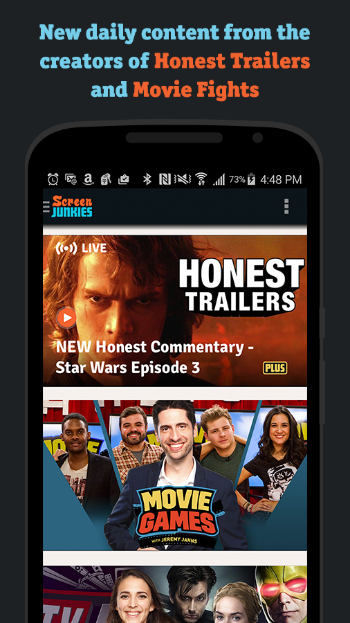 ScreenJunkies – For Movie Fans- screenshot