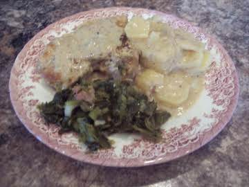 Pork Chops, Taters & Gravy Casserole