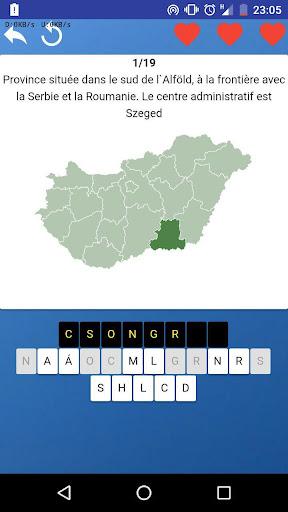 Comitats de Hongrie - quiz,tests,cartes,drapeaux APK MOD (Astuce) screenshots 1