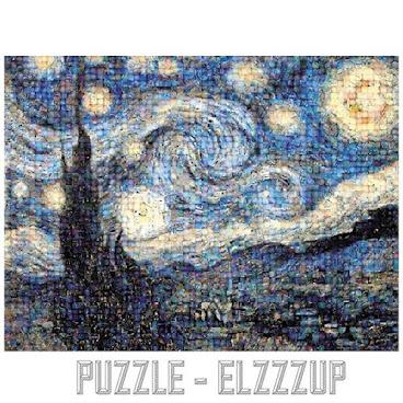 [名畫類] The Starry Night 馬賽克砌圖 1000p