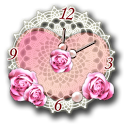 Heart Analog Clock Widget icon