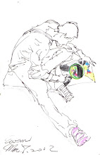 Photo: 彩繪青春2012.03.07鋼筆+蠟筆 青春總是處處令人驚豔,這位年輕刺青師所繪的曼陀羅用色美極了!