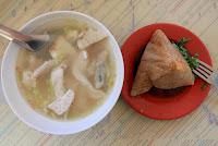 𩵚魠魚粥、菜粽、肉粽