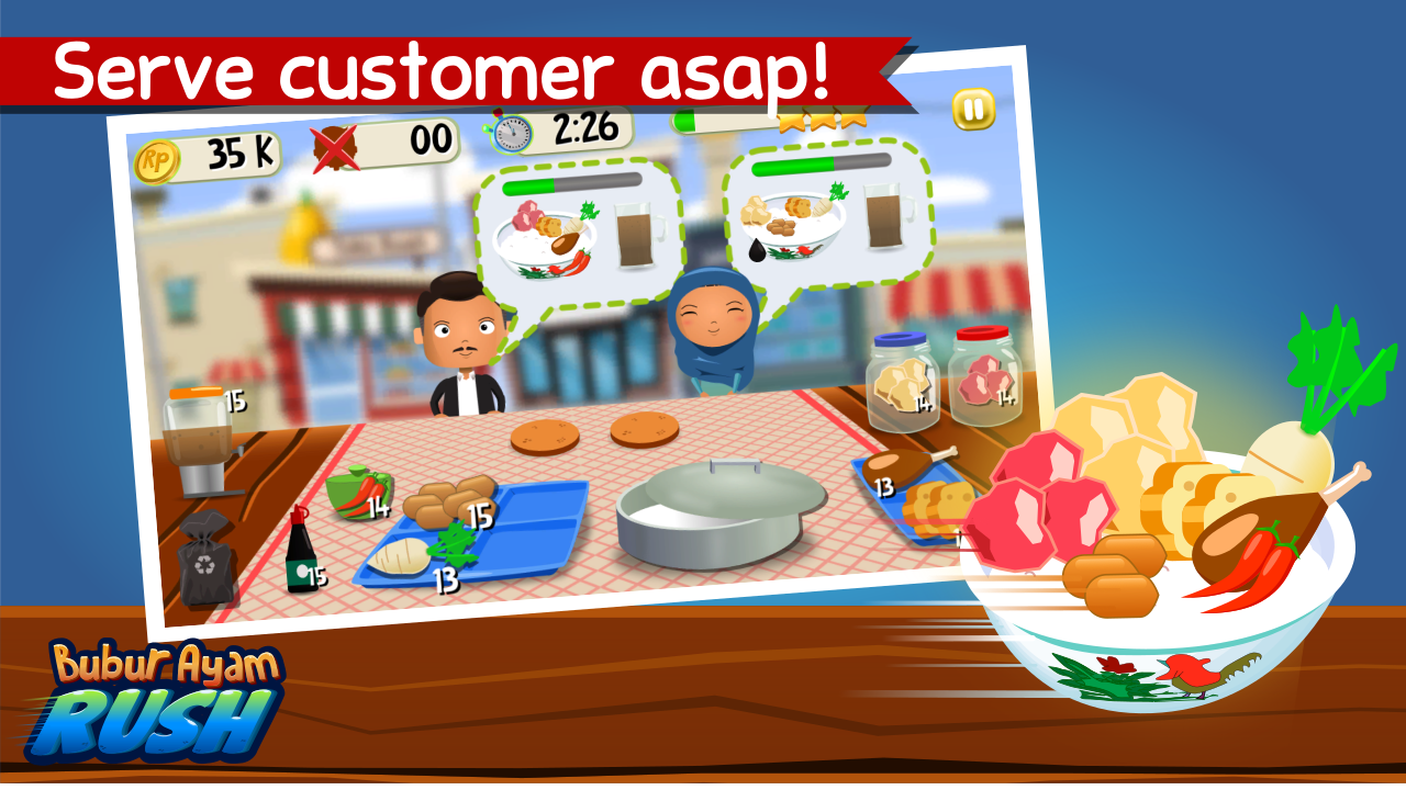 Bubur Ayam Rush - Cooking Game- screenshot
