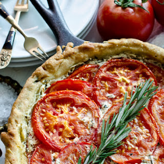 Goat Cheese and Tomato Tart with Rosemary and Mascarpone.