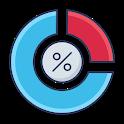Calcolo della variazione percentuale temporale icon
