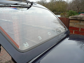 Photo: Renault 5 Gt Turbo Raider Rear Window Logo
