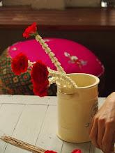 Photo: déco florale à la guest