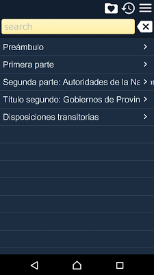 Constitution of Argentina - screenshot