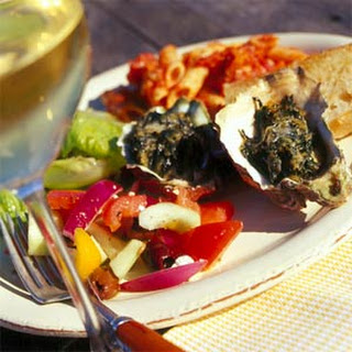 Baked Oysters Florentine.
