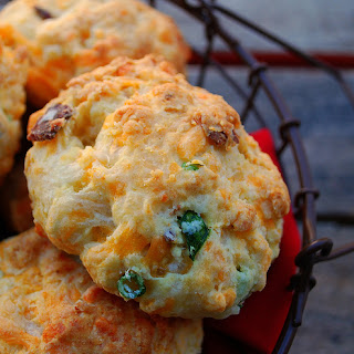 Cheddar, Bacon and Chive Biscuits.