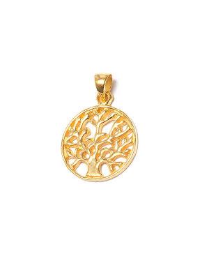 Livets träd, hänge i guldpläterad mässing