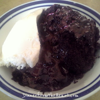 Microwave Molten Chocolate Lava Cake