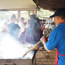 Mici by Sámuel Zalányi - Food & Drink Cooking & Baking ( mici, open fire, street food, smoke, summer,  )