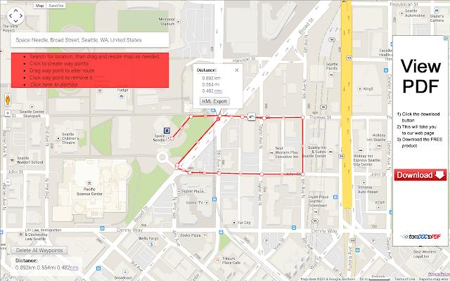 Distance Measure Chrome Web Store - Map run distance free