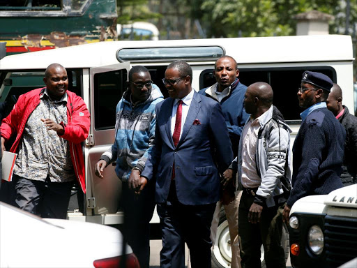 Image result for Images of kidero in court