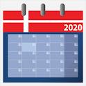 Kalender 2020 dansk med helligdage icon