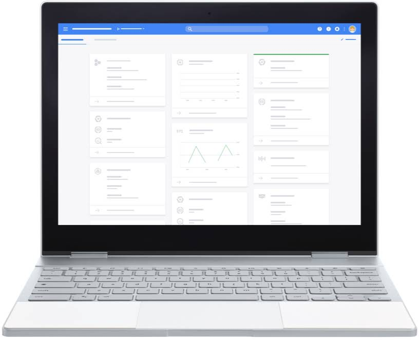 Computadora con herramientas de G Suite for Education