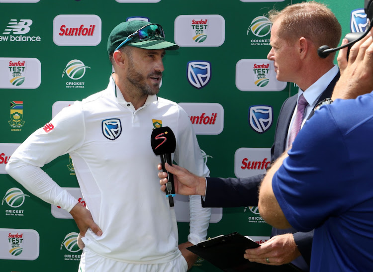 Faf du Plessis of South Africa during the 2018 Sunfoil Test Series match between South Africa and Australia at Wanderers Stadium, Johannesburg on 03 April 2018.