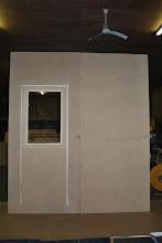 Photo: attach sandwich panels at the edges